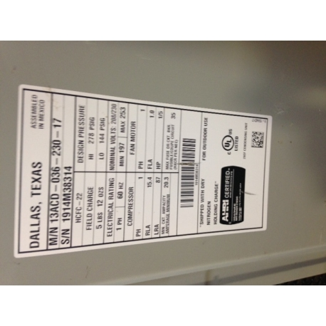 Air conditioners gt lennox 13 seer r22 3 ton condenser 13acd 036